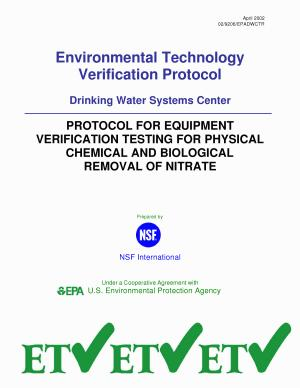 Protocol for Equipment Verification Testing for Physical Chemical   Biological Removal of Nitrate PDF