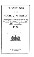 Proceedings of the House of Assembly and Legislative Council PDF