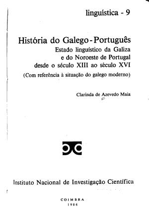 Hist  ria do galego portugu  s PDF