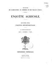 France. Ministère de l'agriculture (1881-1916). Enquête agricole