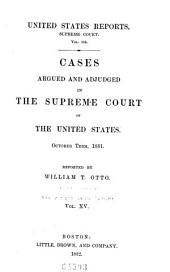 United States Reports: Cases Adjudged in the Supreme Court, Volume 105