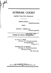 Supreme Court Appellate Term First Department