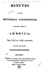 Minutes of the Annual Conferences of the Methodist Episcopal Church PDF