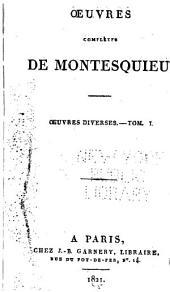 Oeuvres complètes de Montesquieu ...