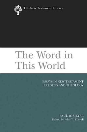 The Word in this World PDF