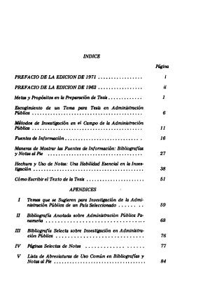 Manual Para la Preparacion de Tesis Con Referencia Especial a la Administracion Publica