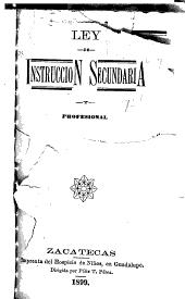 Ley de instrucción secundaria y profesional
