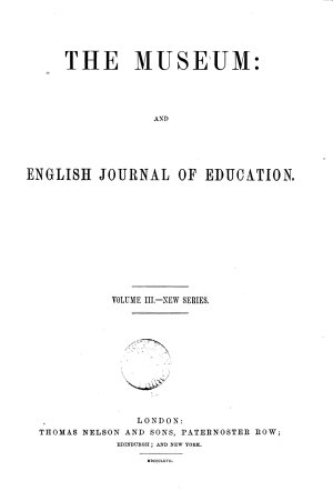 The Museum   entitled  The Museum and English journal of education