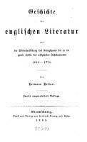 Literaturgeschichte des achtzehnten Jahrhunderts      Die englische Literatur von 1660 1770 PDF