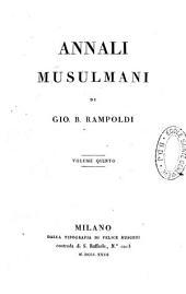 Annali musulmani: Volume 5