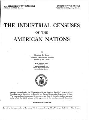 The Industrial Censuses of the American Nations PDF