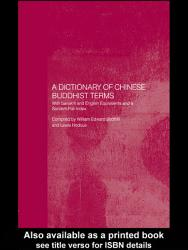 A Dictionary Of Chinese Buddhist Terms Book PDF