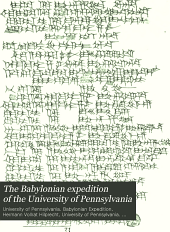 The Babylonian expedition of the University of Pennsylvania: Volume 6