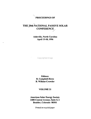 Proceedings of the 20th  i e  21st  National Passive Solar Conference PDF