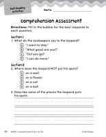 Put Me in the Zoo Comprehension Assessment PDF