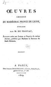 Oeuvres choisies du prince maréchal prince de Ligne