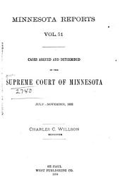 Minnesota Reports: Volume 51