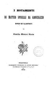 I notamenti di Matteo Spinelli da Giovenazzo
