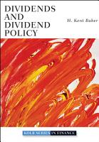 Dividends and Dividend Policy PDF