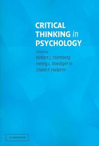 Critical Thinking in Psychology PDF