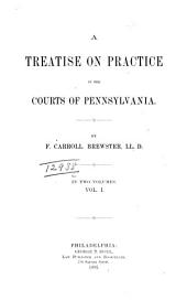 A Treatise on Practice in the Courts of Pennsylvania: Volume 1