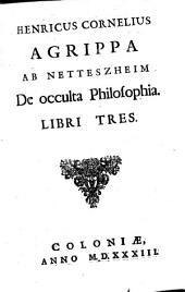 De occulta Philosophia Libri Tres