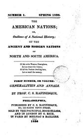 The American nations; or, Outlines of their general history, ancient and modern