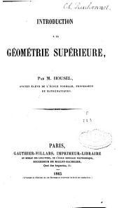 Introduction à la géométrie supérieure