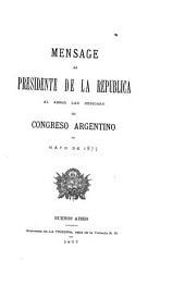 Mensaje ...: Volumen 1877