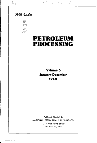 Petroleum Processing PDF