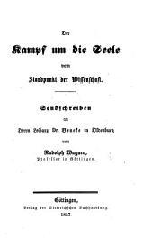 """Der Kampf um die Seele vom Standpunkt der Wissenschaft. Sendschreiben an Dr. Beneke in Oldenburg [on his """"Physiologische Vorträge,"""" etc.]."""