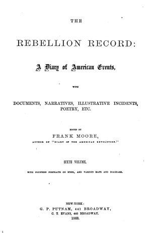 The Rebellion Record  Oct   62 June  63