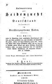 Aufmunterung zur seidenzucht in Deutschland besonders im grossherzogthume Baden: Nebst einem probeblatt