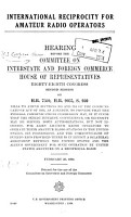 International Reciprocity for Amateur Radio Operators PDF