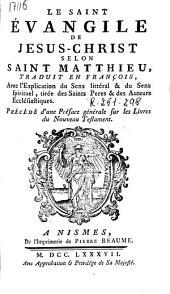 Le Saint Evangile de Jesus-Christ selon Saint Matthieu