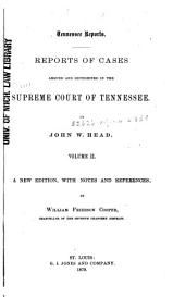 Reports of Cases Argued and Determined in the Supreme Court of Tennessee: Volume 39