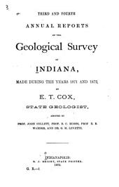 Annual Reports of the Geological Survey of Indiana, Made During the Years ...: Issues 3-4