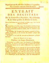 Extrait des registres... Séances. des Vendredi soir 26 & 27 juillet 1793 [où des députations ont été reçues]