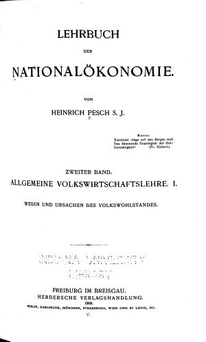 Lehrbuch der Nationalokojokie  Die Aktiven Ursachen im Volkswirtschaftlichen Lebensprozesse PDF