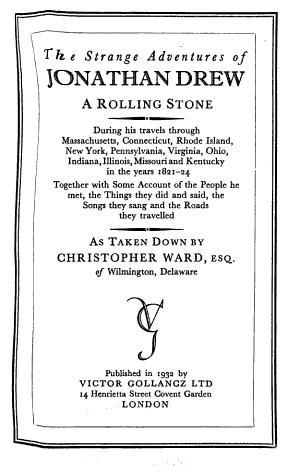 The Strange Adventures of Jonathan Drew