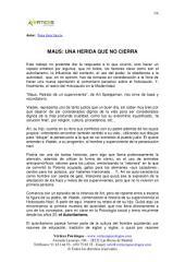MAUS: UNA HERIDA QUE NO CIERRA