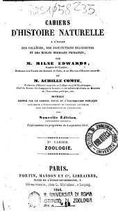 Cahiers d'histoire naturelle: 1: Zoologie