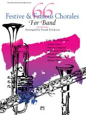 66 Festive and Famous Chorales for Band for Percussion (Snare Drum and Bass Drum)