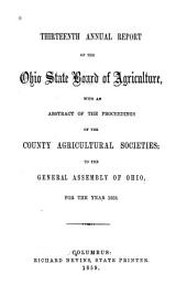 Annual Report of the Ohio State Board of Agriculture: Volume 13, Part 1858