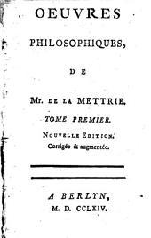 Oeuvres philosophiques: Volume1