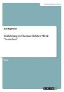 Einf  hrung in Thomas Hobbes  Werk  Leviathan  PDF