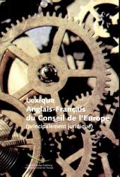 Council of Europe : french-english : legal dictionary
