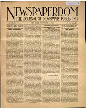Newspaperdom: Volume 8, Issue 11