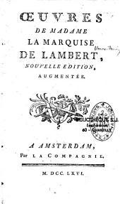 Oeuvres d'fAnne Thérèse de Lambert
