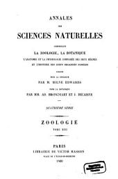 Annales des sciences naturelles: Volume 13